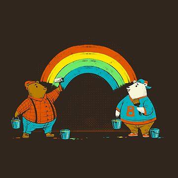Love is Love Rainbow Bear by tobiasfonseca
