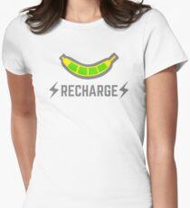 recharge with bananas Women's Fitted T-Shirt