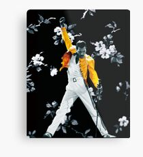 Fredddie Mercury Yellow Jacke in Blumen Metalldruck
