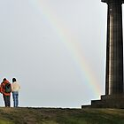 Rainbow on Calton Hill, Edinburgh by Richard Flint