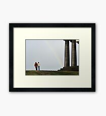 Rainbow on Calton Hill, Edinburgh Framed Print