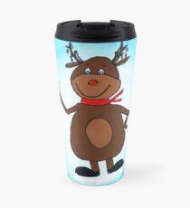Reindeer Painting Travel Mug