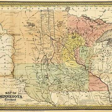 Map of Minnesota Territory (1852) by allhistory