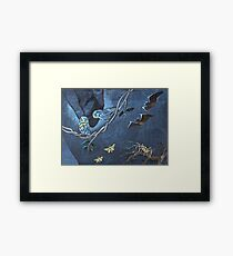 Bats, Moreporks and Weta Framed Print