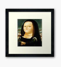 Fat Mona Lisa Framed Print