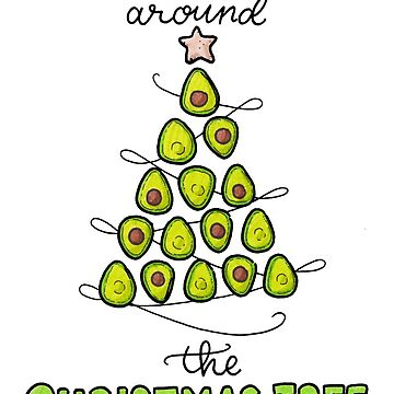 Guac-in Around the Christmas Tree by Drawingsbymaci