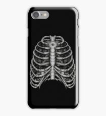 People front Bone silver  iPhone Case/Skin