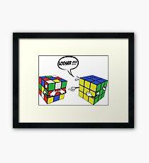 rubik's magic cube Framed Print