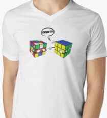 rubik's magic cube Men's V-Neck T-Shirt