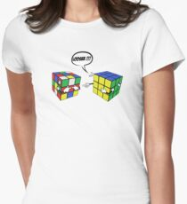 rubik's magic cube Women's Fitted T-Shirt