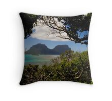 Mounts Gower and Lidgard, Lord Howe Island Throw Pillow