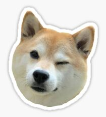 Shiba Wink Sticker