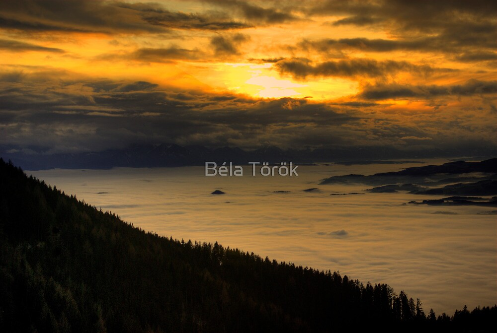 Sunset above the clouds by Béla Török