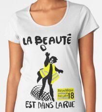 Gilets Jaunes - La Beaute liegt in der Rue Frauen Premium T-Shirts