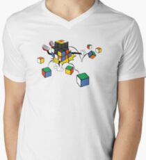 magic cube fall Men's V-Neck T-Shirt