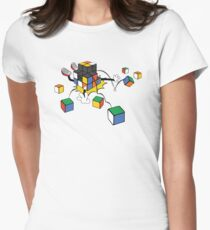 magic cube fall Women's Fitted T-Shirt