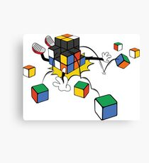 magic cube fall Canvas Print