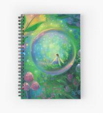 Glow Bubble Fairy Art Spiral Notebook