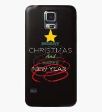 Funda/vinilo para Samsung Galaxy Feliz Navidad y Feliz Año Nuevo Arbolito Perfecto Para Regalo Familiar