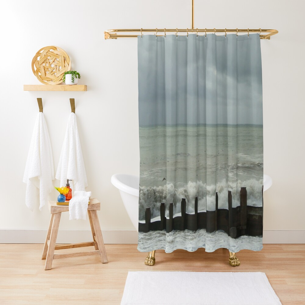 Stormy Weather at Eastbourne - East Sussex - UK Shower Curtain