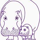 « Mommapotamus and Babapotamus » par Hippopottermiss