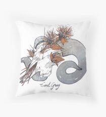 MorbidiTea - Earl Grey with Ram Skull Floor Pillow