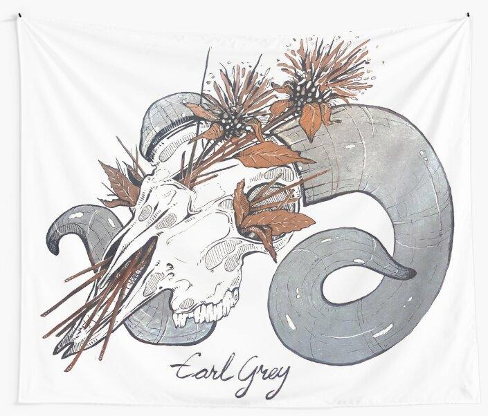 MorbidiTea - Earl Grey with Ram Skull by MicaelaDawn