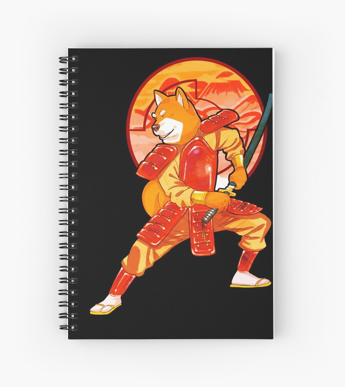 "Manga Samurai Spiral Notebooks By Jiggymiggy: ""Samurai Shiba!"" Spiral Notebooks By Dandelcy"
