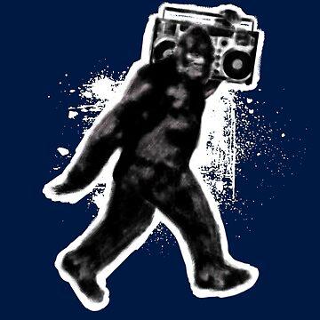 Rad Bigfoot Sasquatch Boombox Music by DOODL
