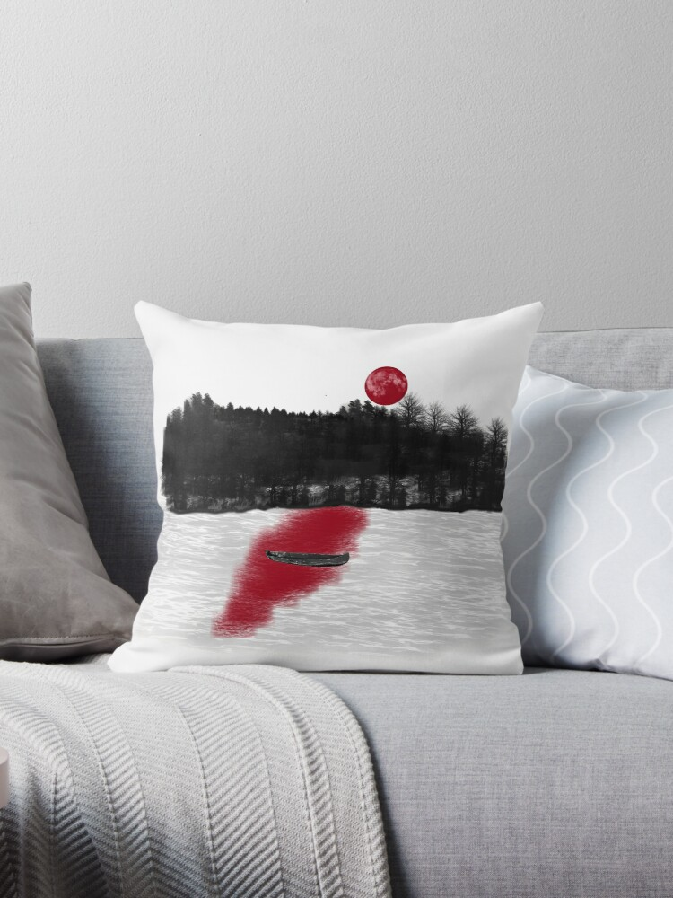 Blood Red Throw Pillows By Demonhatter Redbubble