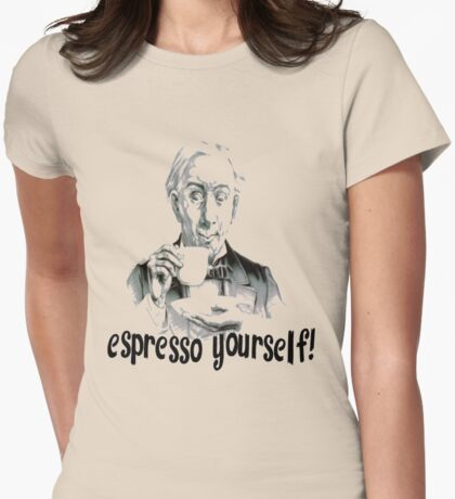 Espresso Yourself Vintage Style Coffee Drinker T-Shirt