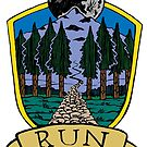 Run Forever Moon Emblem - Colour Version by bangart