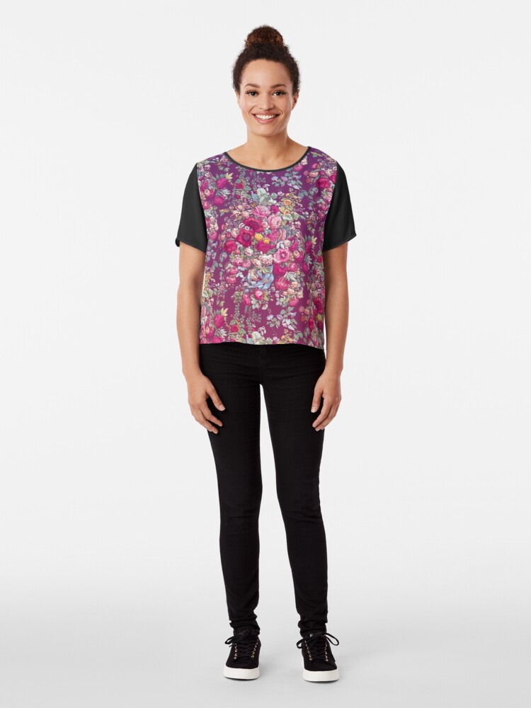 Alternative Ansicht von & quot; Bouquety & quot; Chiffontop