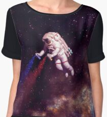 Shooting Stars - the astronaut artist Chiffon Top