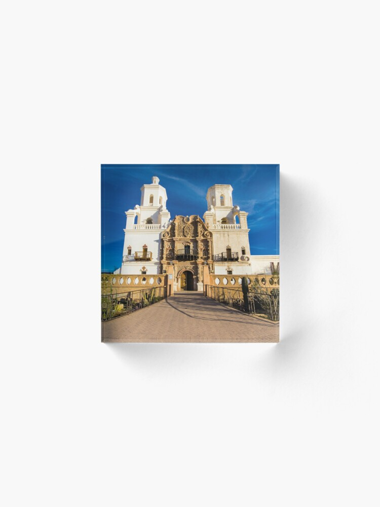 Alternate view of Mission San Xavier Acrylic Block