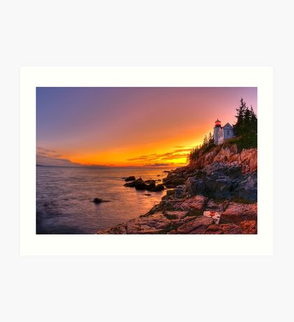Bass Harbor Sunset Art Print