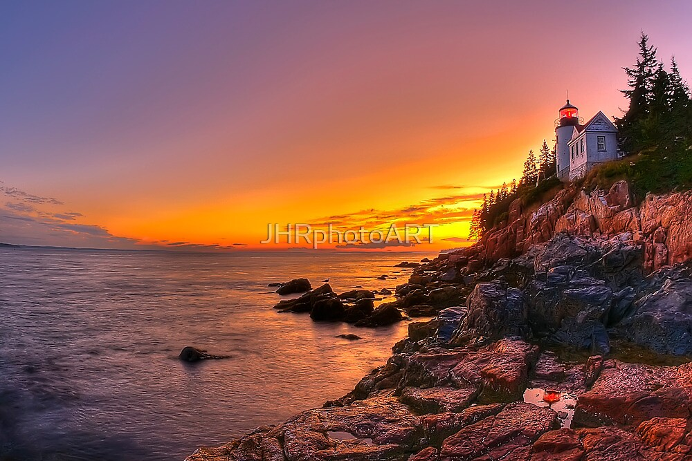 Bass Harbor Sunset by JHRphotoART