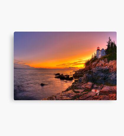 Bass Harbor Sunset Canvas Print