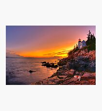 Bass Harbor Sunset Photographic Print