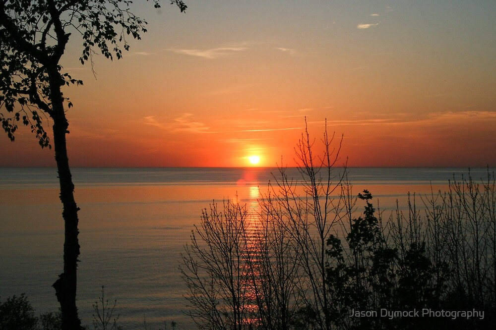 sunset over lake Huron by Jason Dymock Photography