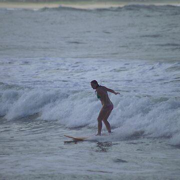 Surfing Kauai by psart