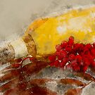 Bottle of Wine and Berries by rhamm
