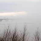 Rockville Bridge As Fog Lifting, Harrisburg, PA by Corkle