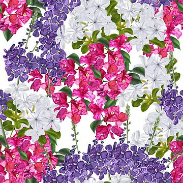 Pink, Purple and White  Fancy Floral  by pugmom4