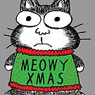 Meowy Xmas Christmas Cat by jarhumor