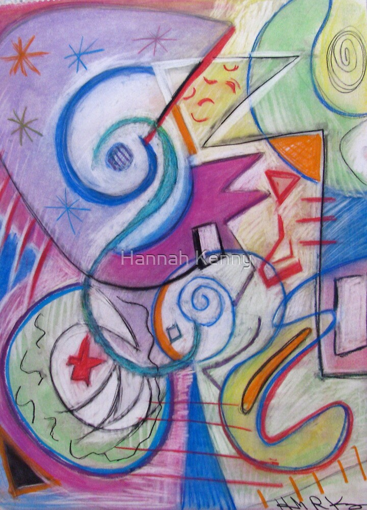 Noutules swirls of color by Hannah Kenny