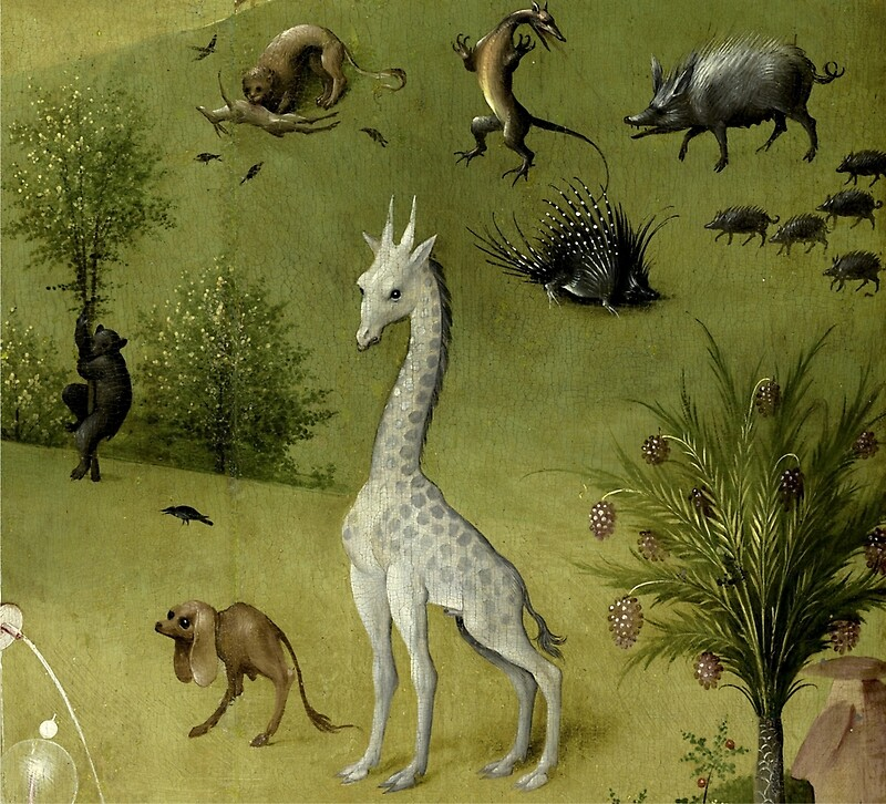 Hieronymus Bosch   Garden Of Earthly Delights   Detail #2a By Chunga