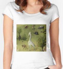 Hieronymus Bosch - Garden of Earthly Delights - Detail #2a Women's Fitted Scoop T-Shirt