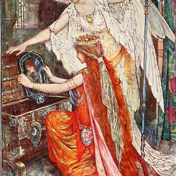 Princess in the Tower Classic Fairy Tale Illustration by shminoa