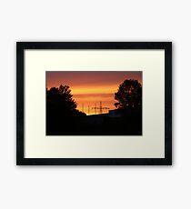 Red sunrise Framed Print
